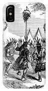 Native American Scalp Dance IPhone Case