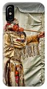 Native American With Blowgun IPhone Case