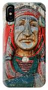 Native American Wood Carving IPhone Case