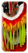 Native American Yellow Feathers Ceremonial Piece IPhone Case