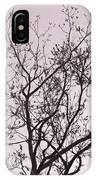 Native Texas Pecan Silhouette IPhone Case