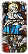 Nativity Stained Glass IPhone Case