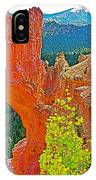 Natural Bridge In Bryce Canyon National Park-utah  IPhone Case