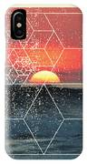 Nature And Geometry - Sunset At Sea IPhone Case