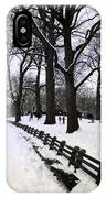 Nature's Canvas On A Wintry Day IPhone Case