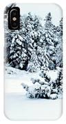 Natures Handywork - Snow Storm - Snow - Trees 2 IPhone Case