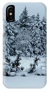 Natures Handywork - Snowstorm - Snow - Trees IPhone Case