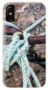 Nautical Lines And Rusty Chains IPhone Case