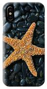 Nautical - Starfish On Black Rocks IPhone Case