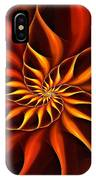 Nautilus Fractalus Fire IPhone Case
