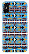 Navajo Blue Pattern IPhone Case