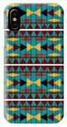 Navajo Teal Pattern IPhone Case