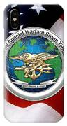 Naval Special Warfare Group Three - N S W G-3 - Over U. S. Flag IPhone Case