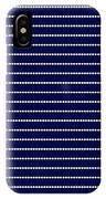 Navy Pinstripe 2 IPhone Case