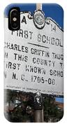 Nc-a14 First School IPhone Case