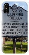 Nc-a21 Culpepers Rebellion IPhone Case
