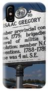 Nc-a30 Isaac Gregory IPhone Case