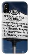 Nc-b31 Wreck Of The U.s.s. Huron IPhone Case