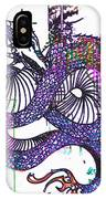 Neon Dragon In High Contrast IPhone Case