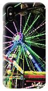 Neon Ferris Wheel IPhone Case