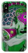 Neon Green Carousel Horse IPhone Case