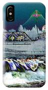Neon Lights Of Spokane Falls IPhone Case