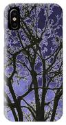 Neon Winter Tree IPhone Case