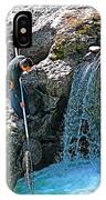 Net Fishing In Bulkley River In Moricetown-british Columbia-canada IPhone Case