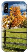 New England Farm With Autumn Sugar IPhone Case