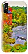 New England Stream In Fall IPhone Case