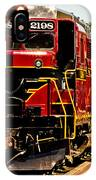 New Hope Ivyland Railroad With Cars IPhone Case
