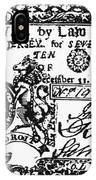 New Jersey Banknote, 1763 IPhone Case