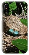 New Life - Robin's Nest IPhone Case