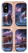 New Mexico Churches In Snow IPhone Case
