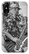New Orleans Jazz Sax Bw IPhone Case