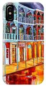 New Orleans Reflections In Red IPhone Case