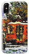 New Orleans Streetcar Paint Vg IPhone Case