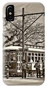 New Orleans Streetcar Sepia IPhone Case