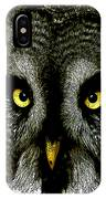 New Photographic Art Print For Sale   Great Grey Owl IPhone Case