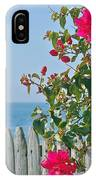 New Photographic Art Print For Sale On The Fence Montecito Bougainvillea Overlooking The Pacific IPhone Case