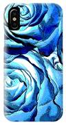 Pop Art Blue Roses IPhone Case