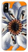 New Photographic Art Print For Sale Pop Art Swan Flower On Orange IPhone Case