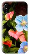 New World And Old World Exotic Flowers IPhone Case