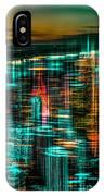 New York - The Night Awakes - Green IPhone Case