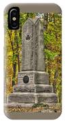 New York At Gettysburg - Monument To The 64th Ny Volunteer Infantry In The Rose Woods IPhone Case