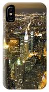 New York By Night IPhone Case