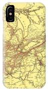 New York Central And Hudson River Railroad 1900 IPhone Case
