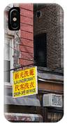 New York Chinese Laundromat Sign IPhone Case