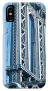 New York City Manhattan Bridge And Skyline IPhone Case