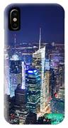 New York City Manhattan Night Panorama IPhone Case